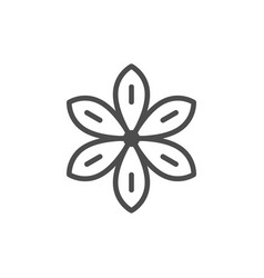 star anise line icon vector image