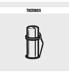 Thermos cartoon icon vector