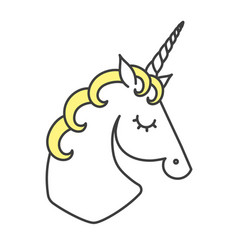 unicorn logo cartoon vector image