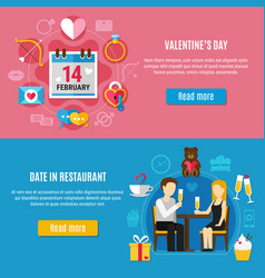 valentines day banner set vector image