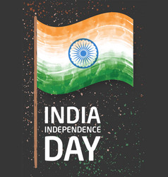 Vertical banner template for india independence vector