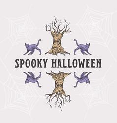vintage style halloween headline or title vector image