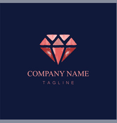 watercolor diamond logo design1 vector image