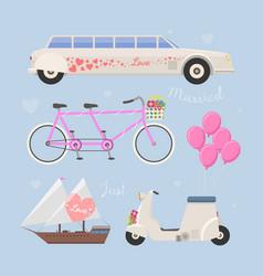 wedding fashion transportation vector image