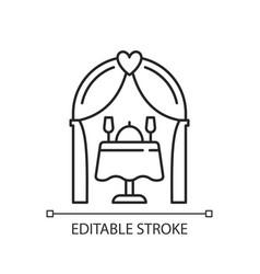 wedding reception linear icon vector image