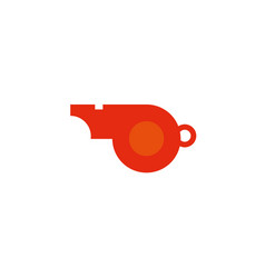 Whistle workout accessory flat icon vector
