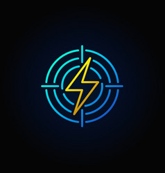 lightning in target colorful icon vector image vector image