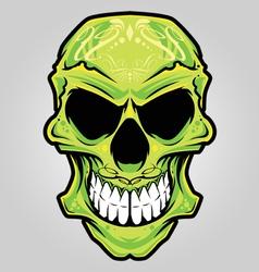 mexico skull color vector image vector image