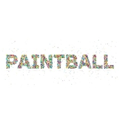 painball word consisting of colored particles vector image vector image