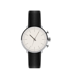 Watch with Leather Strap vector image