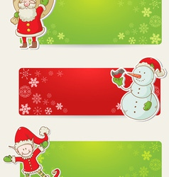 Christmas congratulation stickers vector image