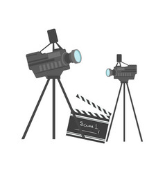 cinematography equipment cinema and movie vector image vector image