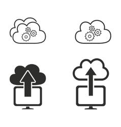 Cloud computing icon set vector image vector image