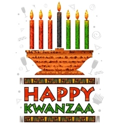 Happy Kwanzaa greetings for celebration of African vector image vector image