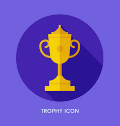 winner cup icon vector image vector image