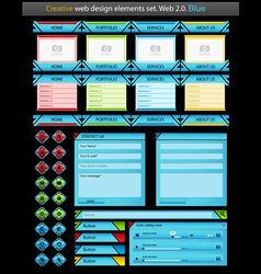creative web design elements set vector image vector image