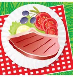 picnic food vector image vector image