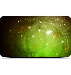 Abstract green card vector image vector image