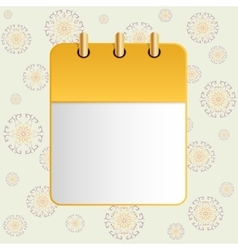 Blank sheet of calendar on the background of the vector image vector image