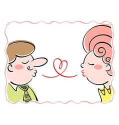 french love vector image vector image