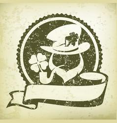 Leprechaun circle logo grange vector