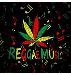 Reggae music cannabis vector