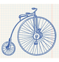 retro-styled bicycle vector image vector image