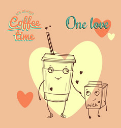 retro vintage coffee background for greeting card vector image