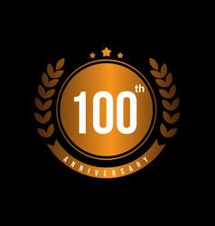 100th anniversary template design vector