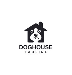 abstract dog house logo icon template vector image