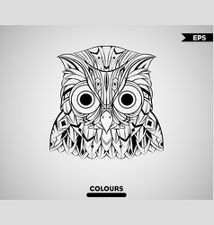 abstract owl head vector image