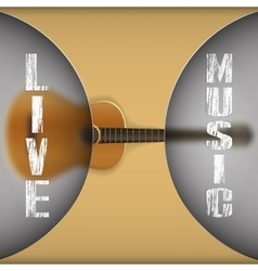 acoustic guitar with blurred background vector image