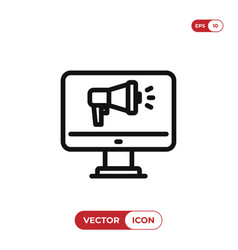 advertising icon vector image