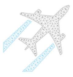Air jet trace polygonal frame mesh vector
