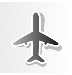 airplane sign new year vector image