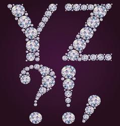 Alphabet diamonds yz vector