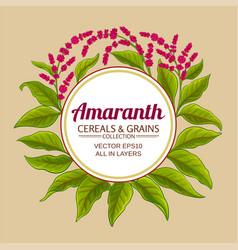 Amaranth plant frame on color background vector