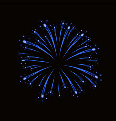 beautiful blue firework bright firework isolated vector image