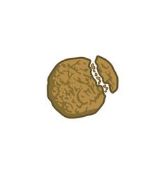 biscuit pieces logo design inspiration vector image