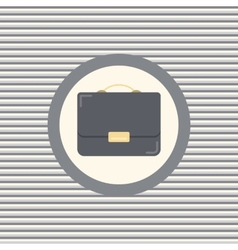 Briefcase color flat icon vector image