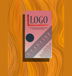business fold brochure design corporate business vector image