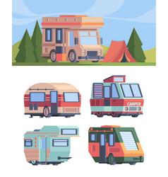 camper van explorer truck vehicle for vector image