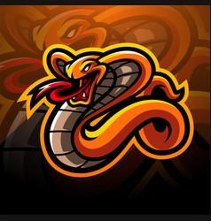 Cobra esport mascot logo design vector