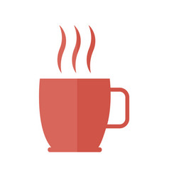 Coffee cup beverage aroma fresh hot icon vector