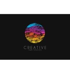 Colorful logo geometric icon technology logo vector image