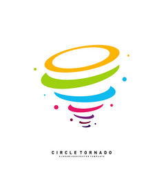 colorful tornado logo design concept template vector image