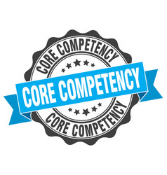Core competency stamp sign seal vector