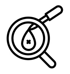 Covid19 test lab dropper icon outline style vector