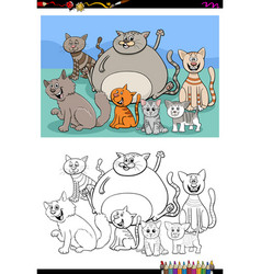 ctas animal characters group color book page vector image