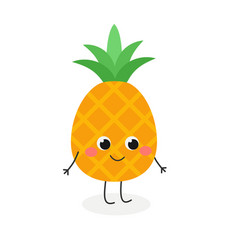 cute cartoon pineapple vector image
